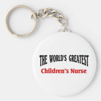 Greatest Children's Nurse Basic Round Button Key Ring