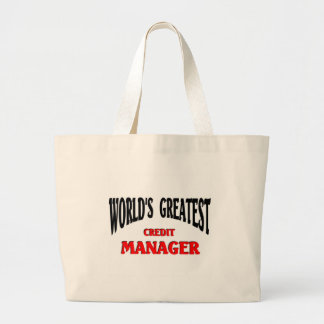 Greatest Credit Manager Jumbo Tote Bag