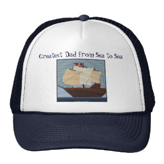 GREATEST DAD FROM SEA TO SEA TRUCKER HAT