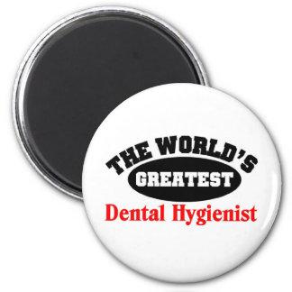 Greatest Dental Hygienist 6 Cm Round Magnet