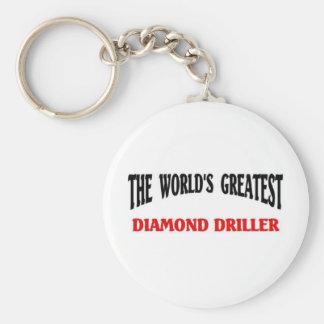 Greatest Diamond Driller Basic Round Button Key Ring