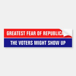 GREATEST FEAR OF REPUBLICANS ... BUMPER STICKER