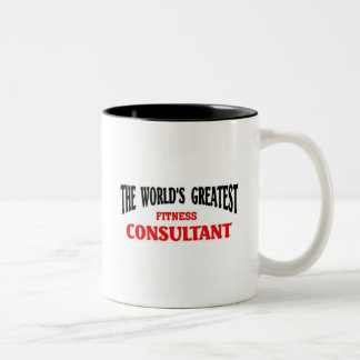 Greatest Fitness Consultant Two-Tone Mug