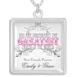 Greatest Friend (BFF) in the World Personalized Jewelry