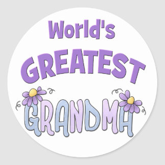 Greatest Granny Classic Round Sticker