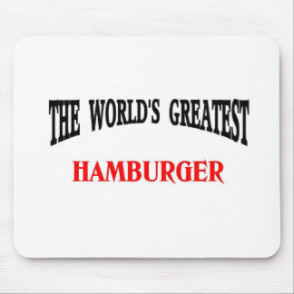 Greatest hamburger mouse pad