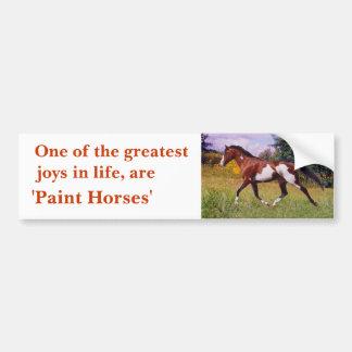 Greatest Joys Paint Horse trotting Bumper Sticker
