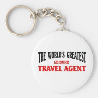 Greatest Leisure Travel Agent Keychains