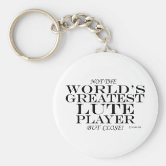 Greatest Lute Player Close Key Ring