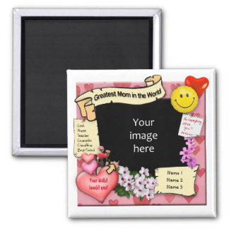 Greatest Mom Magnet with Your Photo