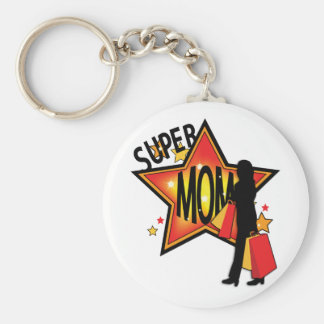 Greatest Mothers Day Super Star Shopper Keychain