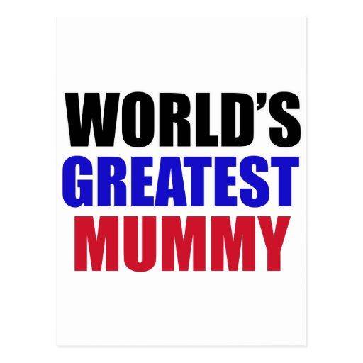 greatest  mummy design post cards
