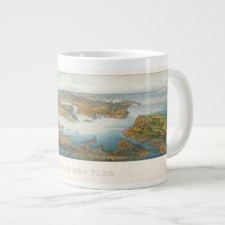 Greatest New York--1911 Aerial View Large Coffee Mug