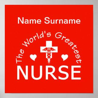 Greatest Nurse poster, customize! Poster