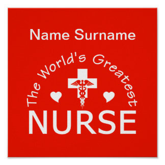 Greatest Nurse poster, customize! Poster