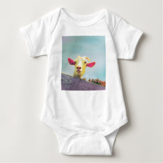 Greatest of All Time pink eared goat Baby Bodysuit
