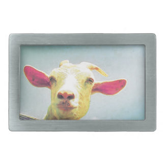 Greatest of All Time pink eared goat Belt Buckles