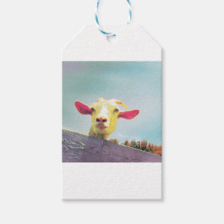 Greatest of All Time pink eared goat Gift Tags