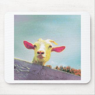 Greatest of All Time pink eared goat Mouse Pad