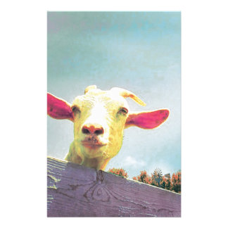 Greatest of All Time pink eared goat Stationery