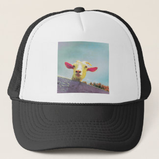 Greatest of All Time pink eared goat Trucker Hat