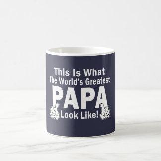 Greatest Papa Basic White Mug