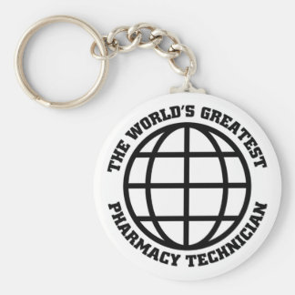 Greatest pharmacy Assistant Basic Round Button Key Ring