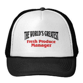 Greatest Produce Manager Cap