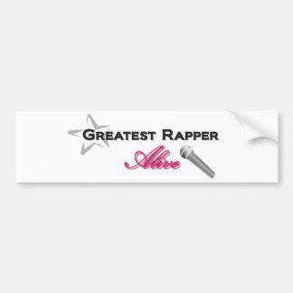 Greatest Rapper Alive Bumper Stickers