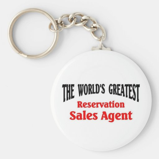 Greatest Reservation Sales Agent Keychain