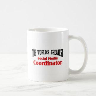 Greatest Social media Coordinator Basic White Mug
