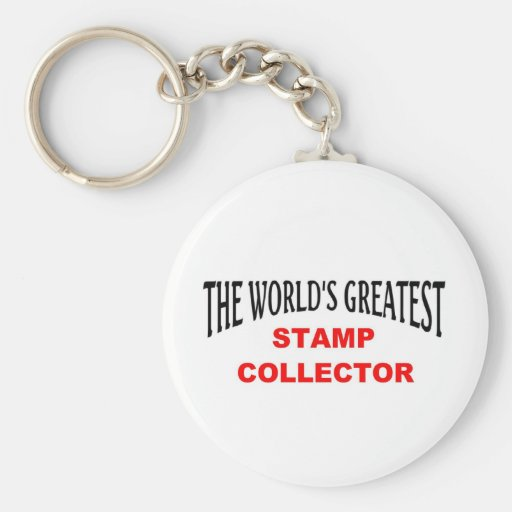 Greatest stamp collector key chains
