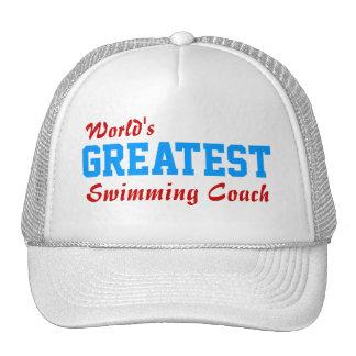 Greatest swimming coach cap