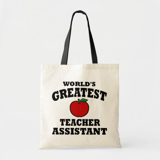 Greatest Teacher Assistant Canvas Bags