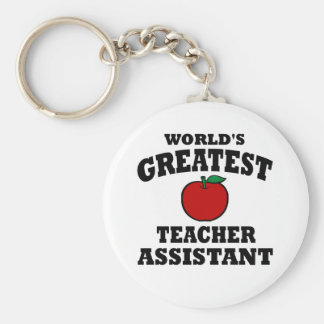 Greatest Teacher Assistant Basic Round Button Key Ring