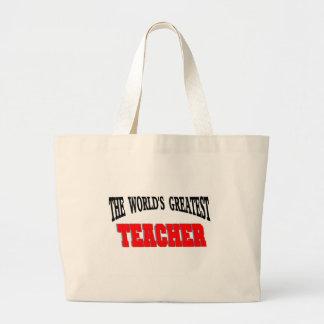 Greatest teacher jumbo tote bag