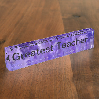 Greatest Teacher Name Plate