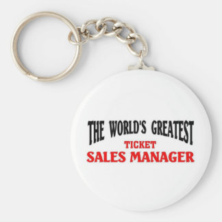 Greatest Ticket sales Manager Basic Round Button Key Ring