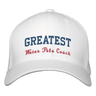 Greatest Water POlo Coach Embroidered Hats