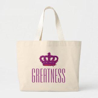 Greatness Crown Jumbo Tote Tote Bag