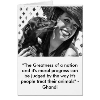 Greatness of a nation greeting card