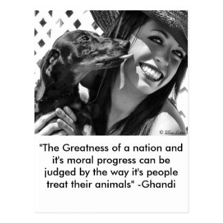 Greatness of a nation postcard