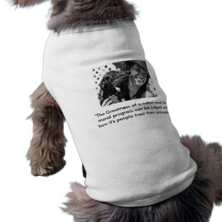 Greatness of a nation sleeveless dog shirt