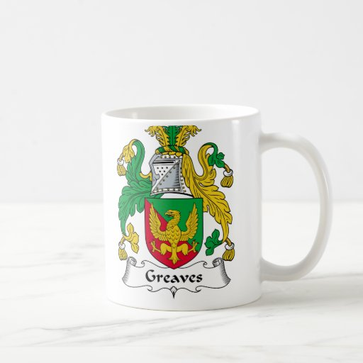 Greaves Family Crest Coffee Mugs