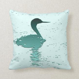 Grebe Bird Pillow American MoJo