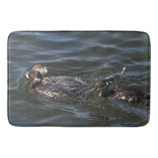 Grebe Birds Wildlife Animal Wetland Bath Mat Bath Mats