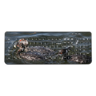 Grebe Birds Wildlife Animals Wireless Keyboard