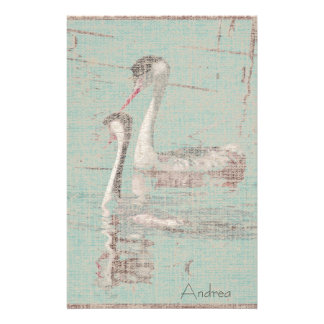 Grebes Linen Stationery