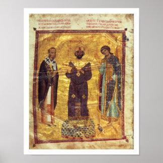Grec Coisl 79 f.2v Emperor Nicephorus III Botaniat Poster