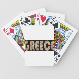 greece1630 bicycle playing cards